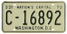 1969 Commercial (Truck) plate no. C-16892