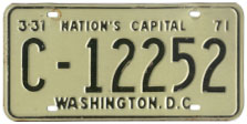 1970 Commercial (Truck) plate no. C-12252