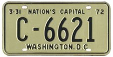 1971 Commercial (Truck) plate no. C-6621