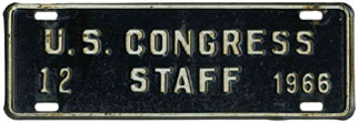 1966 U.S. Congress Staff permit no. 12