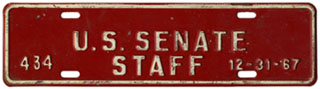 1967 U.S. Senate Staff permit no. 434