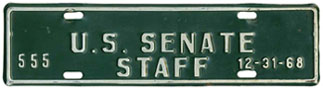 1968 U.S. Senate Staff permit no. 555