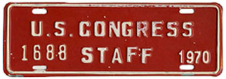 1970 U.S. Congress Staff permit no. 1688