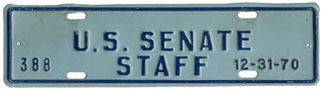 1970 U.S. Senate Staff permit no. 388