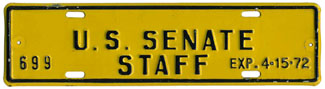 1971-72 U.S. Senate Staff permit no. 699