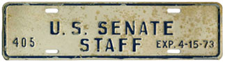1972-73 U.S. Senate Staff permit no. 405
