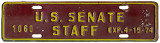 1973-74 U.S. Senate Staff permit no. 1060