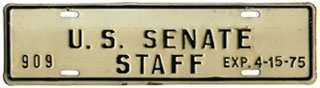 1974-75 U.S. Senate Staff permit no. 909