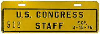 1975-76 U.S. Congress Staff permit no. 512