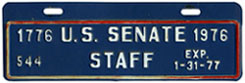 1976-77 U.S. Senate Staff permit no. 544