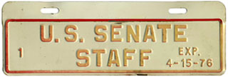 1975-76 U.S. Senate Staff permit no. 1