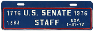 1976-77 U.S. Senate Staff permit no. 1383