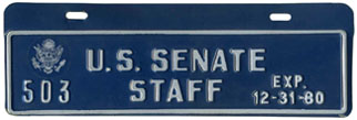 1980 U.S. Senate Staff permit no. 503
