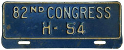 82nd Congress (House of Rep.) permit no. H-54