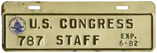 1981-82 U.S. Congress Staff permit no. 787