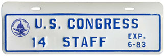 1982-83 U.S. Congress Staff permit no. 14