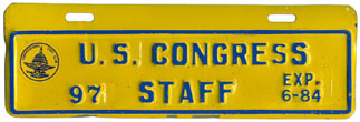1983-84 U.S. Congress Staff permit no. 97