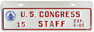 1984-85 U.S. Congress Staff permit no. 15