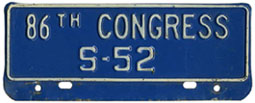 86th Congress (Senate) permit no. S-52