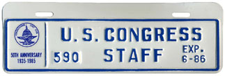 1985-86 U.S. Congress Staff permit no. 590