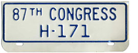 87th Congress (House of Rep.) permit no. H-171
