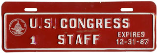 1987 U.S. Congress Staff permit no. 1