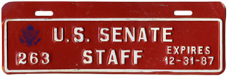 1987 U.S. Senate Staff permit no. 263