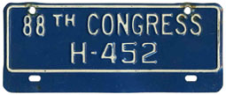 88th Congress (House of Rep.) permit no. H-452