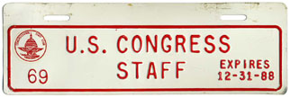 1988 U.S. Congress Staff permit no. 69