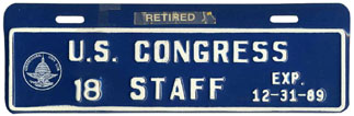 1989 U.S. Congress Staff permit no. 18