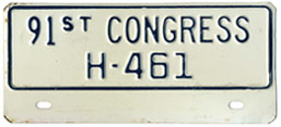 91st Congress (House of Rep.) permit no. H-461
