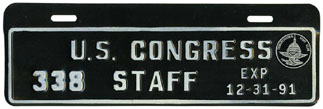 1991 U.S. Congress Staff permit no. 338
