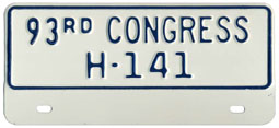 93rd Congress (House of Rep.) permit no. H-141