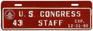 1993 U.S. Congress Staff permit no. 43