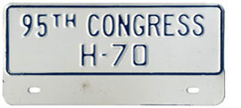 95th Congress (House of Rep.) permit no. H-70