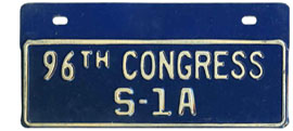 96th Congress (Senate) permit no. S-1A