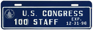 1996 U.S. Congress Staff permit no. 100