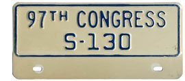 97th Congress (Senate) permit no. S-130