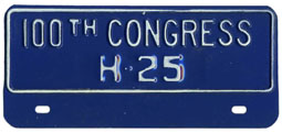 100th Congress (House of Rep.) permit no. 25
