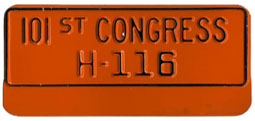 101st Congress (House of Rep.) permit no. H-116