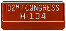 102nd Congress (House of Rep.) permit no. H-134