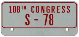 108th Congress (Senate) permit no. S-78