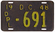 1948 Diplomatic plate no. 691