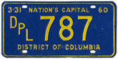 1959 (exp. 3-31-60) Diplomatic plate no. 787
