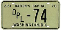 1969 (exp. 3-31-70) Diplomatic plate no. 74