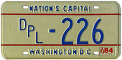 1983 (exp. 3-31-84) Diplomatic plate no. 226