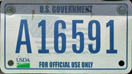 U.S. Dept. of Agriculture 2001 small-format Trailer plate no. A16591