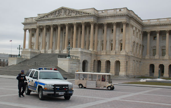 U.S. Capitol Police vehicle parked at the Capitol.