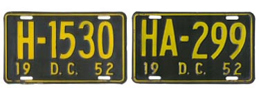 1952 Hire plates H-1530 and HA-299
