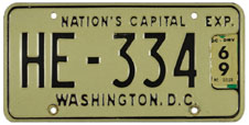 1968 (exp. 3-31-69) Hire plate no. HE-334
